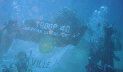 1999 Sea Base Troop 40 Flag Under H20