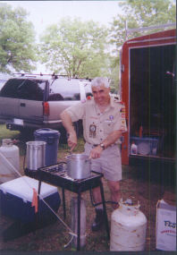 Cooking at September 2000 Canoe Trip